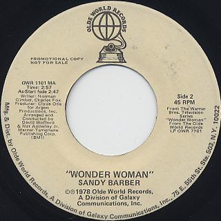 Sandy Barber / Wonder Woman back