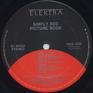 Simply Red / Picture Book label