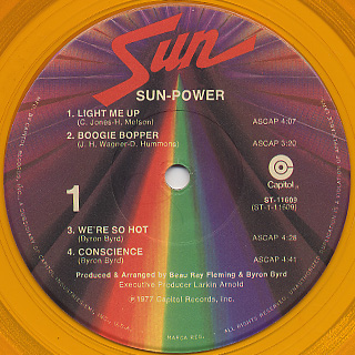 Sun / Sun Power label