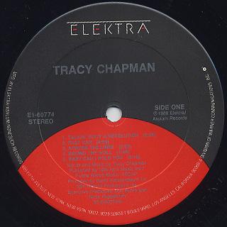 Tracy Chapman / S.T. label