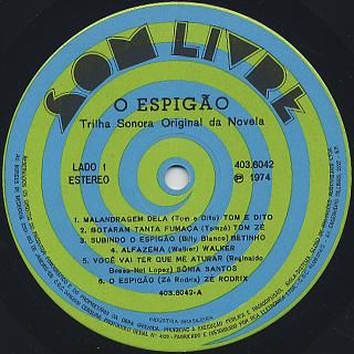V.A. / O Espigao - Nacional label
