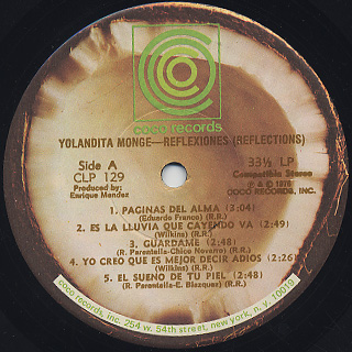 Yolandita Monge / Reflexiones label
