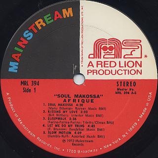 Afrique / Soul Makossa label