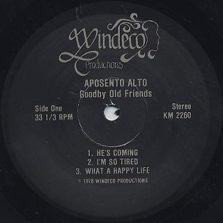Aposento Alto / Goodbye Old Friends label
