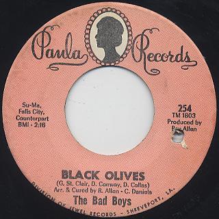 Bad Boys / Love c/w Black Olives back