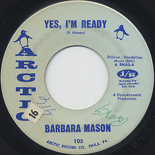 Barbara Mason / Yes I'm Ready c/w Keep Him