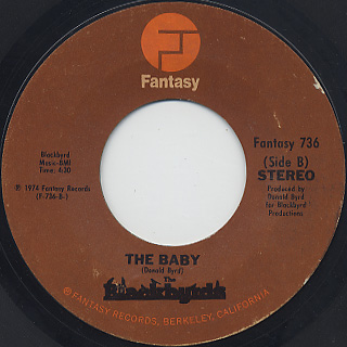 Blackbyrds / Walking In Rhythm c/w The Baby back
