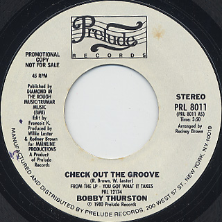 Bobby Thurston / Check Out The Groove