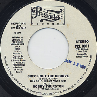 Bobby Thurston / Check Out The Groove back