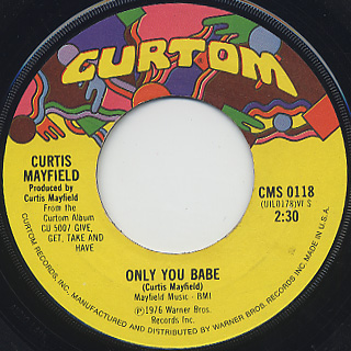 Curtis Mayfield / Love To The People c/w Only You Babe back