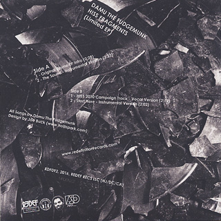 Damu The Fudgemunk / Hiss Fragments (EP) back