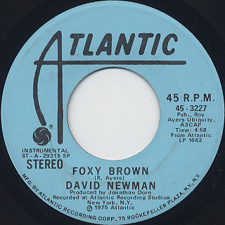 David Newman / Foxy Brown front