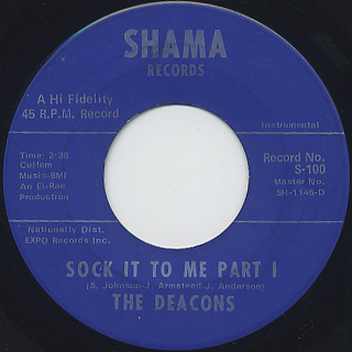 Deacons / Sock It To Me front
