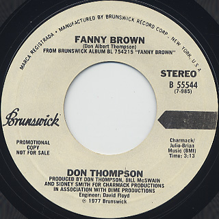 Don Thompson / Fanny Brown (45)
