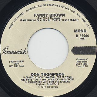 Don Thompson / Fanny Brown (45) back