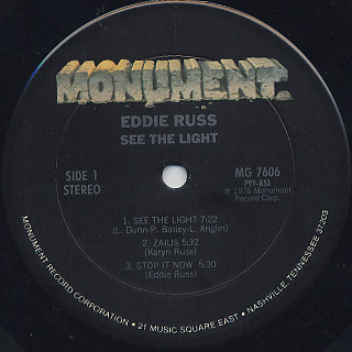 Eddie Russ / See The Light label
