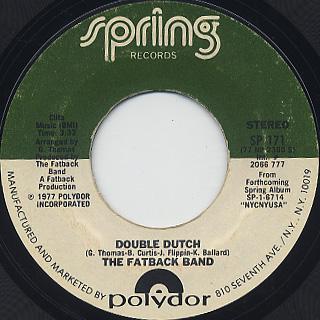 Fatback Band / Double Dutch