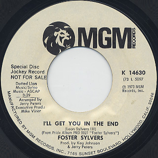 Foster Sylvers / Hey, Little Girl back