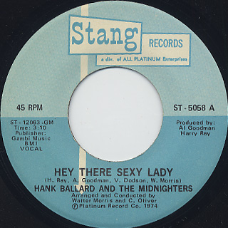Hank Ballard And The Midnighters / Hey There Sexy Lady