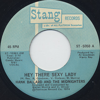 Hank Ballard And The Midnighters / Hey There Sexy Lady back