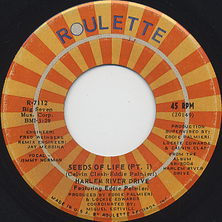 Harlem River Drive Featuring Eddie Palmieri / Seeds Of Life