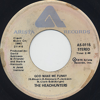 Headhunters / God Make Me Funky c/w Daffy's Dance