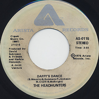 Headhunters / God Make Me Funky c/w Daffy's Dance back