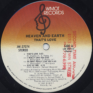 Heaven And Earth / That's Love label