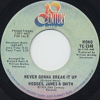 Hodges, James & Smith / Never Gonna Break It Up back