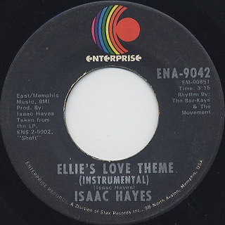 Isaac Hayes / Do Your Thing c/w Ellie's Love Theme back