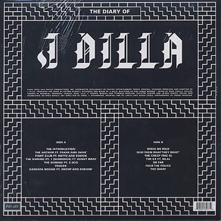 J Dilla / The Diary back