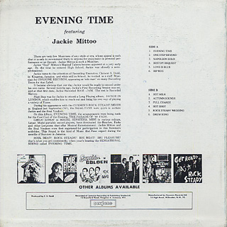Jackie Mittoo And The Soul Vendors / Evening Time back