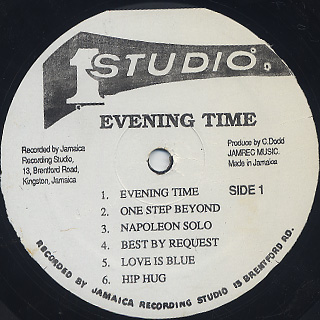 Jackie Mittoo And The Soul Vendors / Evening Time label