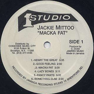 Jackie Mittoo / Macka Fat label