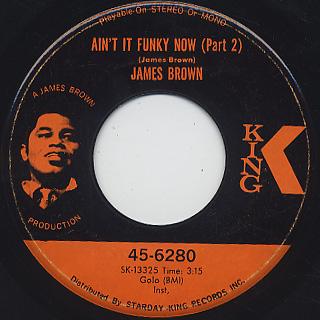 James Brown / Ain't It Funky Now (Part1 & Part2) back