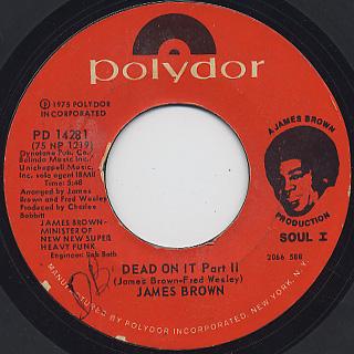 James Brown / Hustle!!! (Dead On It) back