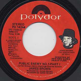 James Brown / My Thang c/w Public Enemy No.1 - Part 1 back