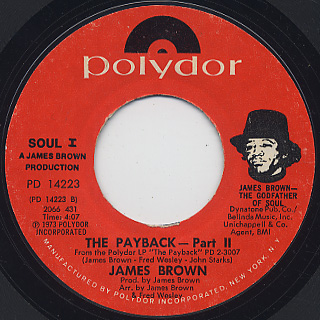 James Brown / The Payback Part I back