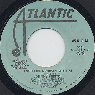 Johnny Bristol / I Sho Like Groovin' With Ya front