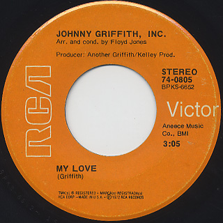 Johnny Griffith, Inc. / The Grand Central Shuttle c/w My Love back