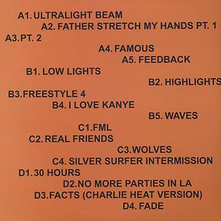 Kanye West / The Life Of Pablo back