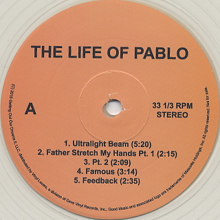 Kanye West / The Life Of Pablo label
