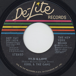 Kool And The Gang / Higher Plane c/w Wild Is Love back