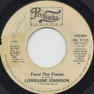 Lorraine Johnson / Feed The Flame front