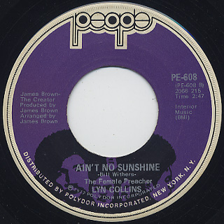 Lyn Collins / Think(About It) c/w Ain't No Sunshine back