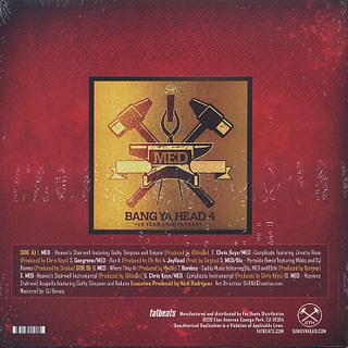 MED / Bang Ya Head 4: 10 Year Anniversary back
