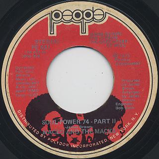 Maceo And The Macks / Soul Power 74(Part I & II) back