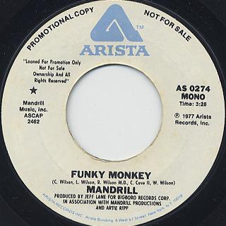 Mandrill / Funky Monkey back