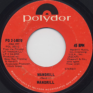 Mandrill / Mandrill c/w Warning Blues