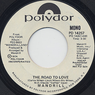 Mandrill / The Road To Love (45) back